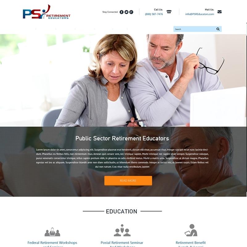 Information based website design and development