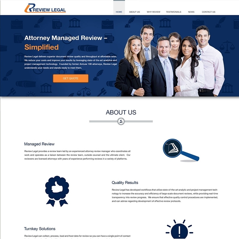 Ona Page Website Design and Development