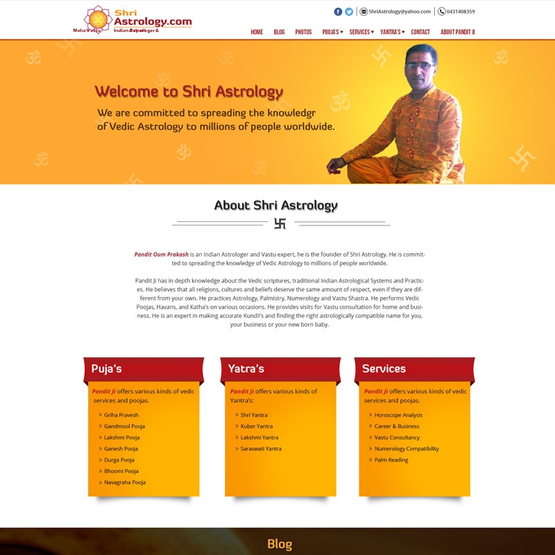 Astrology Website Design and Development