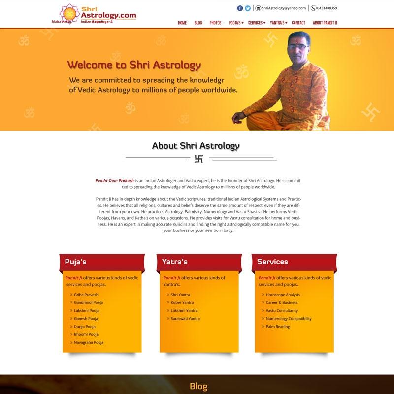 Astrology Website Design and Development