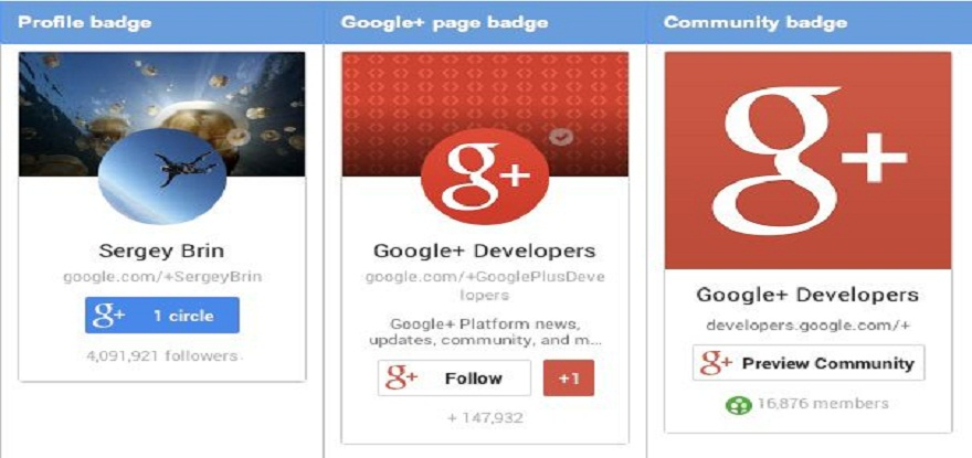Google Plus Page Badges