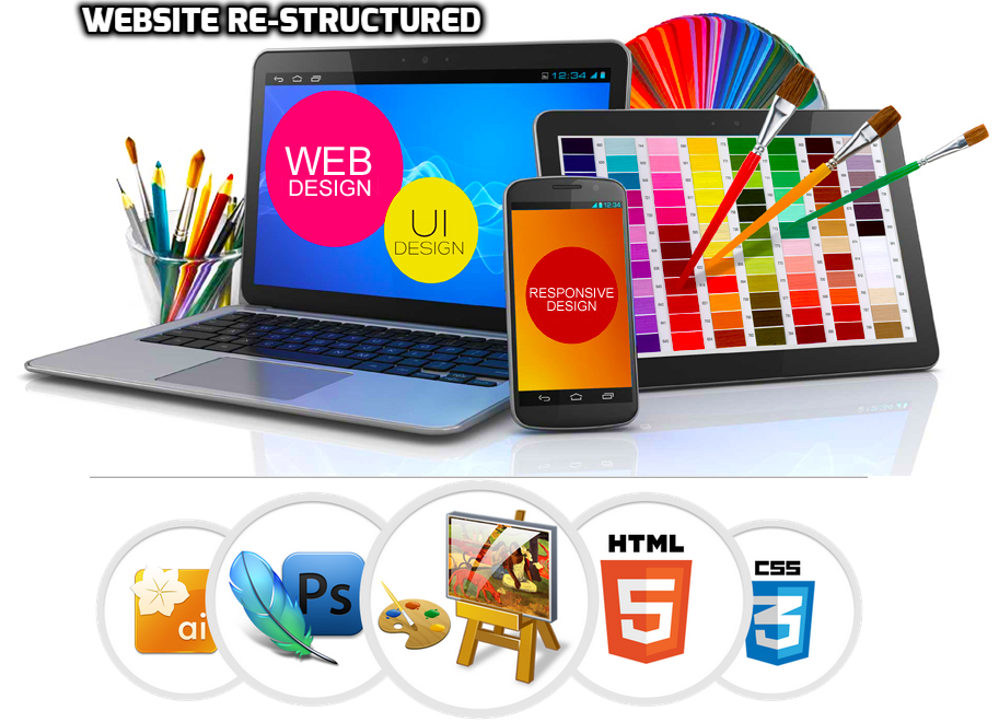 website re-structured